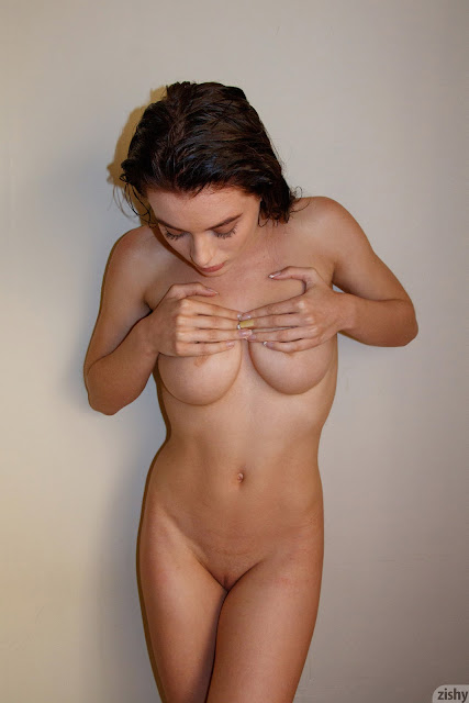 Lana Rhoades squeezing boobs