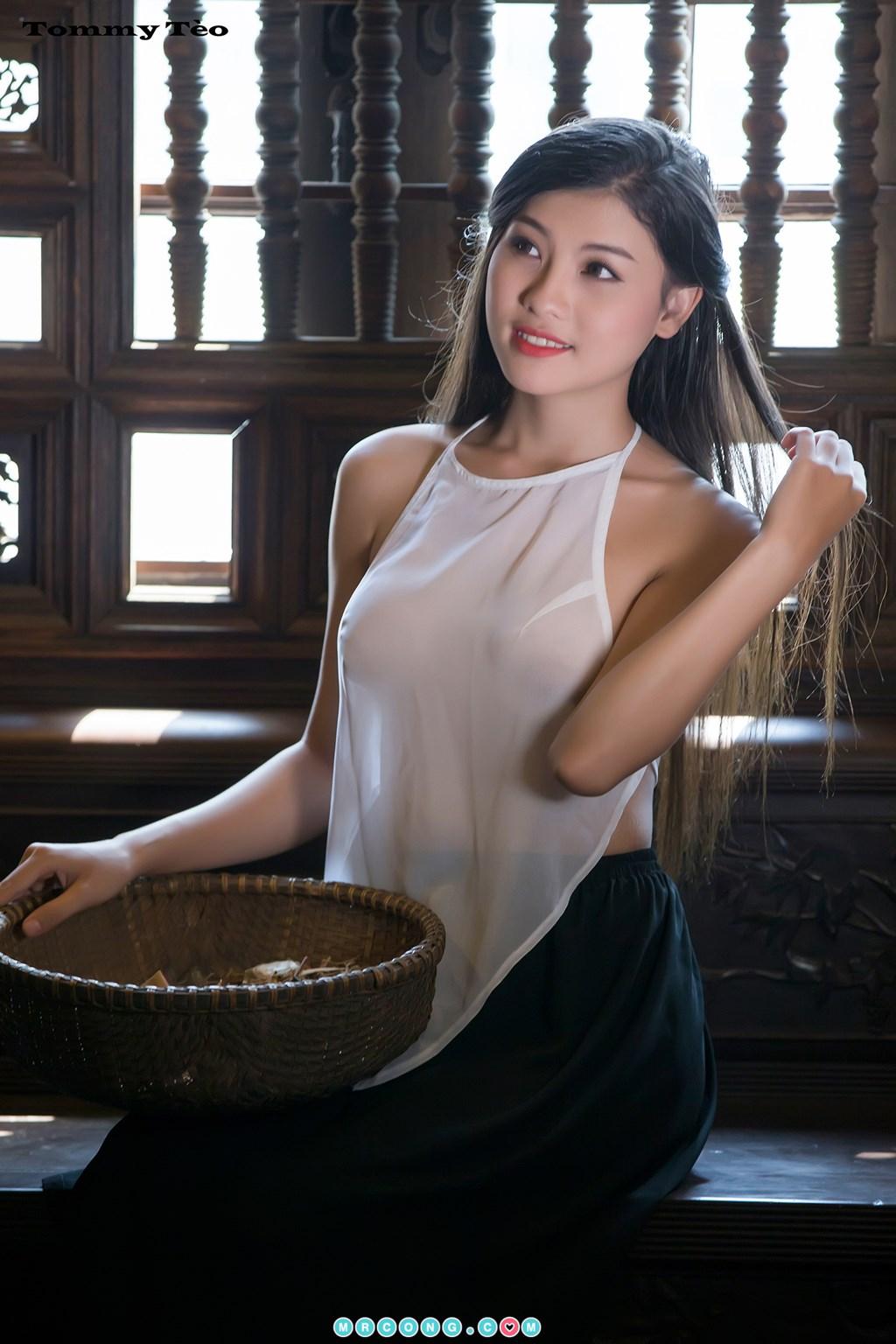 Image Nhung-Nguyen-by-Dang-Thanh-Tung-Tommy-Teo-MrCong.com-004 in post Nóng cả người với bộ ảnh thiếu nữ thả rông ngực mặc áo yếm mỏng tang (19 ảnh)