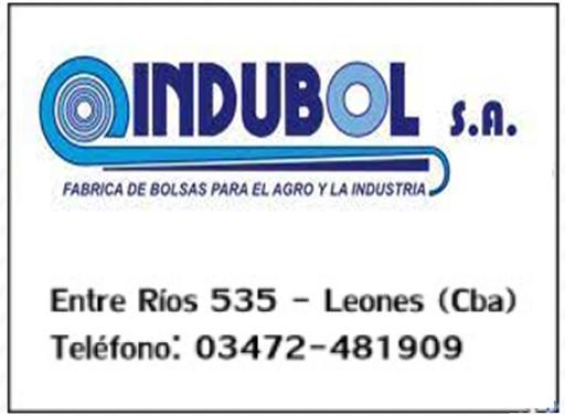ESPACIO PUBLICITARIO: INDUBOL S.A.