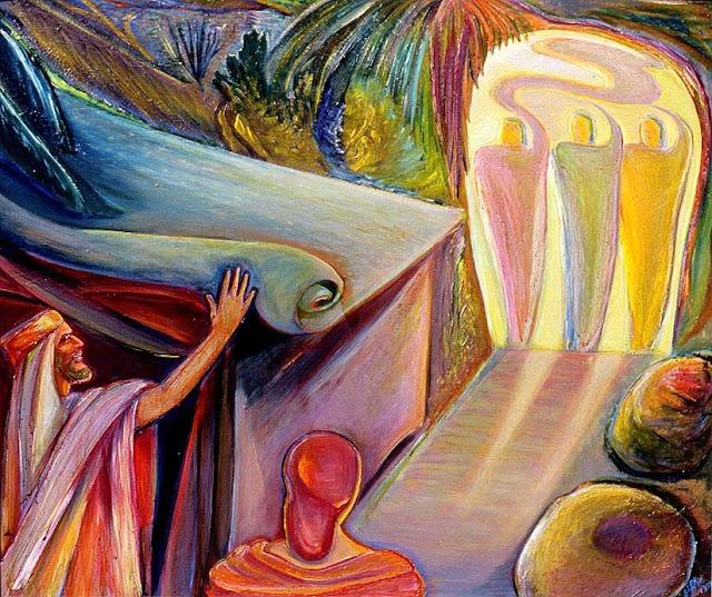 Abraham et les trois visiteurs de Suzanne Clairac dit Giffi