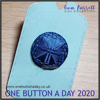 Day 212 : London Cross - One Button a Day 2020 by Gina Barrett