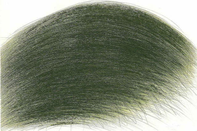 Arnulf Rainer art, a green wave
