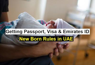 getting passport, visa and emirates id for newborn in uae