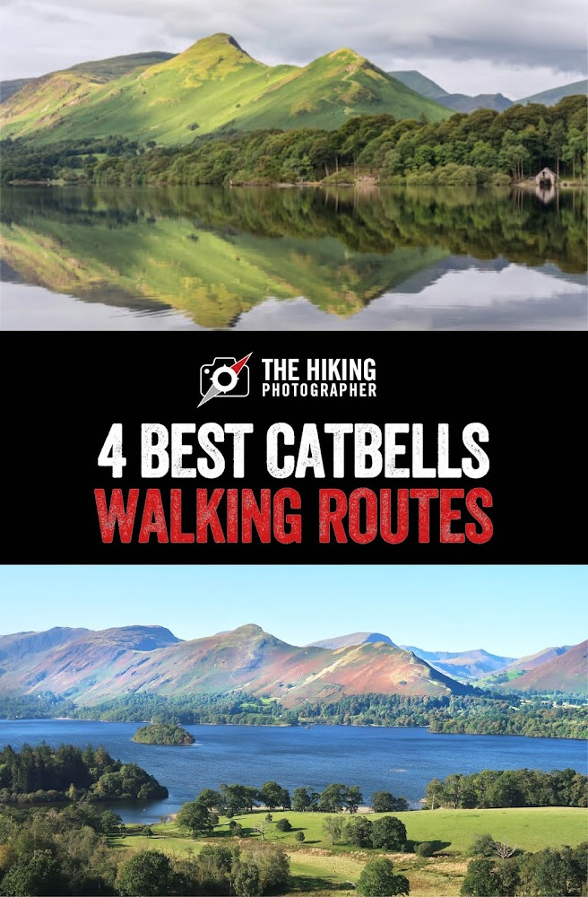 Catbells walking routes cat bells keswick map route best