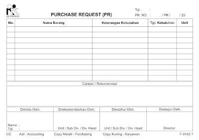 Cetak Form Purchase Request