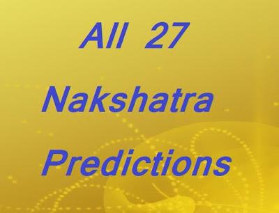 All 27 Nakshatra Predictions