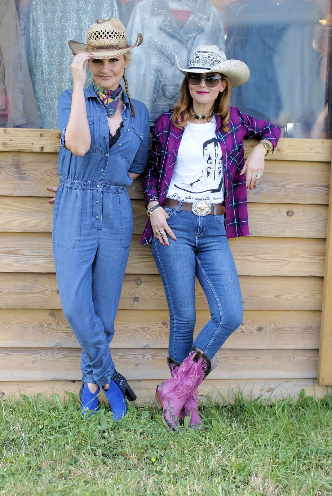 Cowgirl friends stick together on Fashion and Cookies fashion blog, fashion blogger style