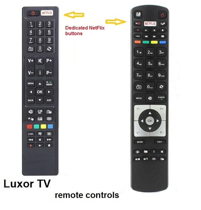 Luxor TV remote controls
