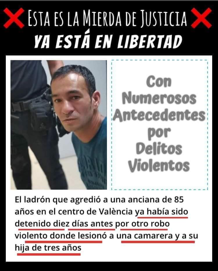 Cuidado con el bulo de que han soltado al Rumano que agredió a una anciana en Valencia