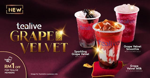 Grape Velvet Milk (Black Diamond) Dan Smoothie Coconut Jelly