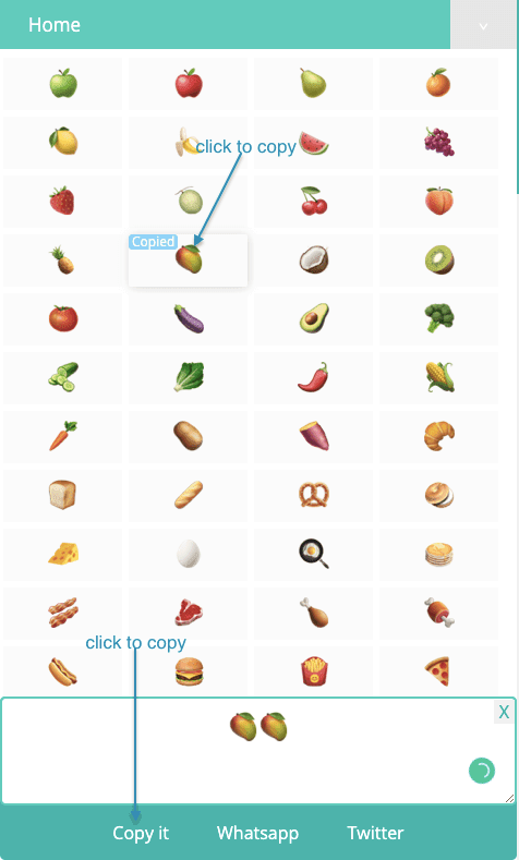 How to Copy Food Symbols?