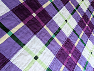 Modern Scot tartan patchwork quilt, quilting,, Charm About You