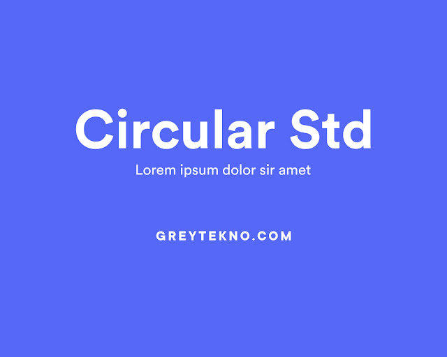 Download Font Circular Std Gratis (TTF)