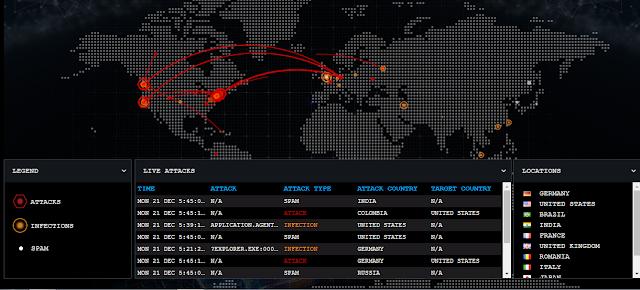 Cyber-Attack-Map-Bitdefender