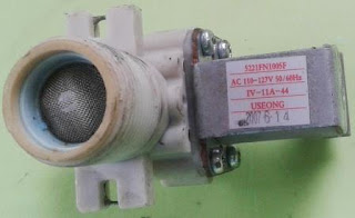 Vista del filtro de agua de la válvula de la lavadora