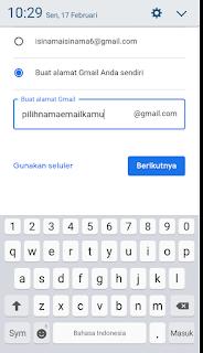 cara bikin email di hp android gratis