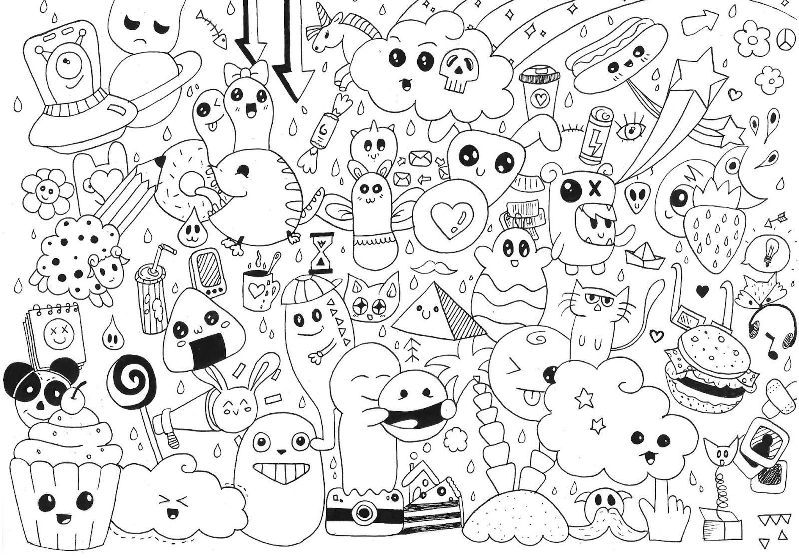 Desenhos Para Pintar: Kawaii Desenho-para-colorir-imprimir