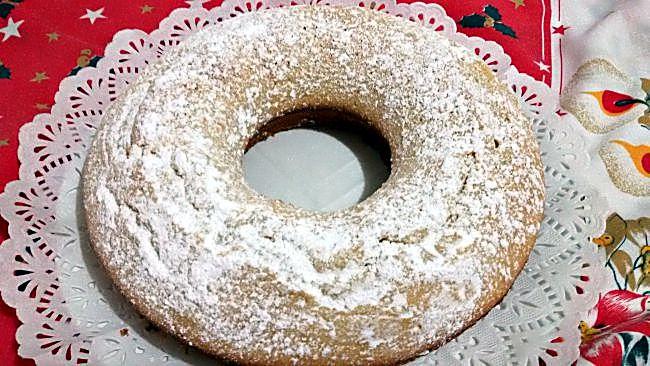 Bizcocho de nata y chocolate blanco