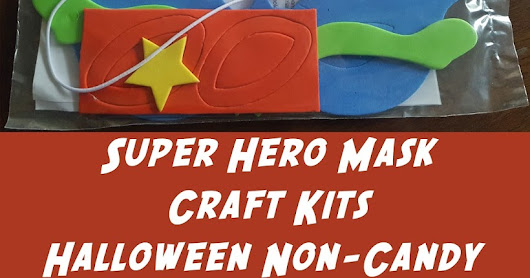 Super Hero Mask Craft Kit from Oriental Trading: Halloween Non-Candy Treat for School + Free Printable!