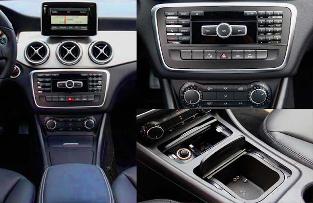 Tựa tay Mercedes GLA 200 2017 được thiết kế nổi bật với rất nhiều tiện ích