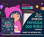 Paket 30 Artikel SEO Promo 300K