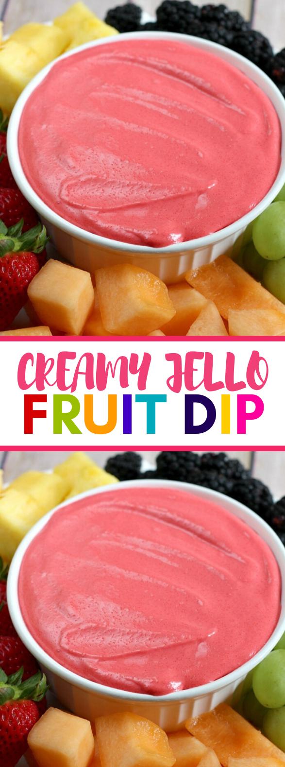 CREAMY JELLO FRUIT DIP #sweets #desserts