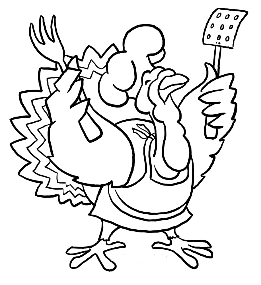 Funny Thanksgiving Turkey Coloring Pages | Cartoon ...