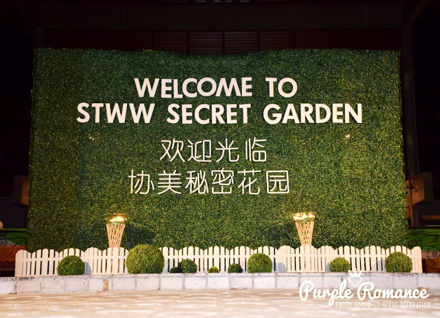 photo booth, instant print, decoration, decorator, vendor, corporate events, weddings, garden, lanterns, floral, carpet, lighting, walkway, draping, scallop, balloon arch, green white, secret garden