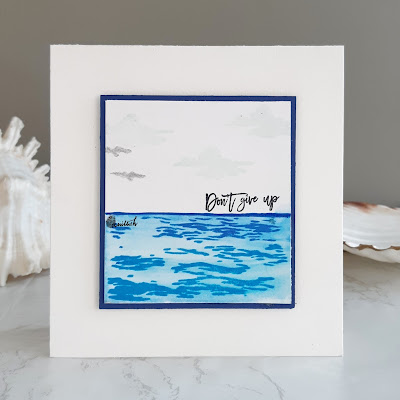guest designing - Addicted to CAS, CAS card, Altenew - Be a lighthouse, encouragement cards, water colouring, gansai tambi watercolours, Quillish, clean and simple card, cards by Ishani