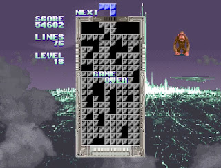 ゲームオーバー時の画面