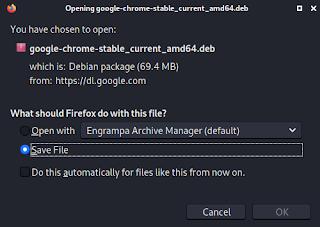 Google chrome download deb file