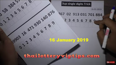 Thai lottery king VIP 3up Set Regular Pass Trick 16 January 2019