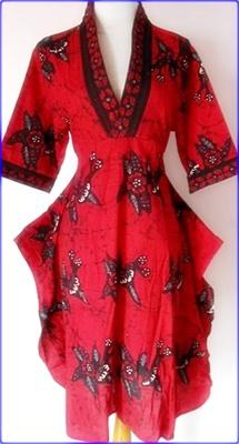 Model Baju Batik Pesta Wanita Modern