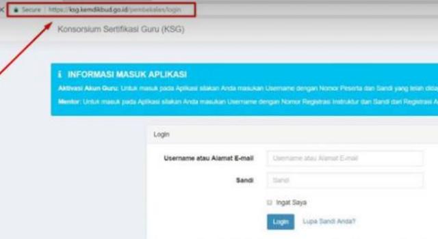 gambar link cara aktivasi akun ksg pembekalan plpg 2017