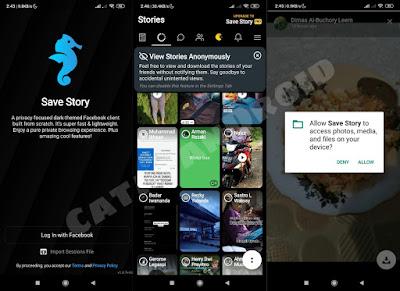 Cara Ambil Foto & Video FB Stories teman dengan Apps Save Story