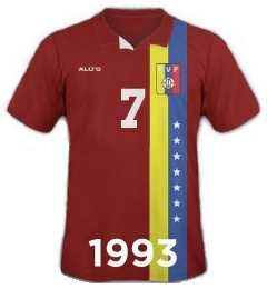 Uniforme Vinotinto Copa América 1993