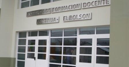 El Instituto de Formación Docente Continua de El Bolsón comunica
