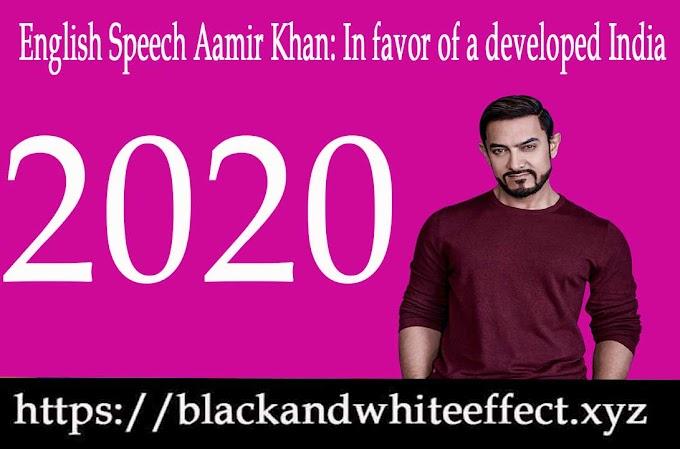 English Speech | Aamir Khan: In favor of a developed India