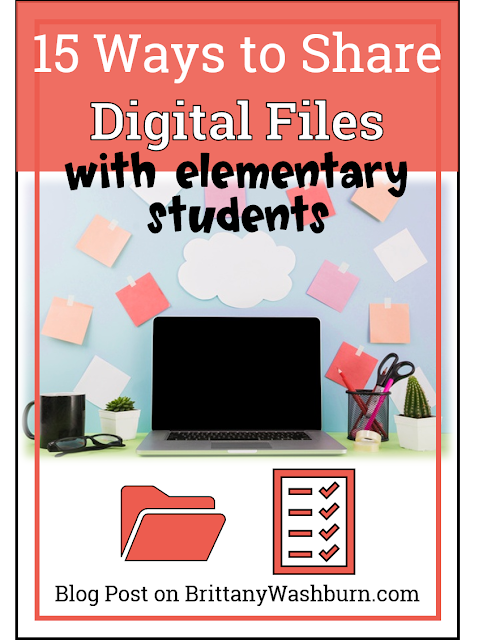 15 Ways to Share Digital Files with Elementary Students