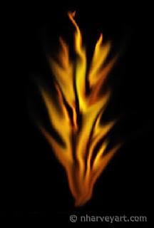 realistic fire drawn with photoshop elements, step 6
