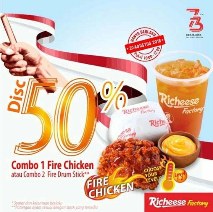 Promo Diskon 50% Richeese Factory Di Seluruh Indonesia