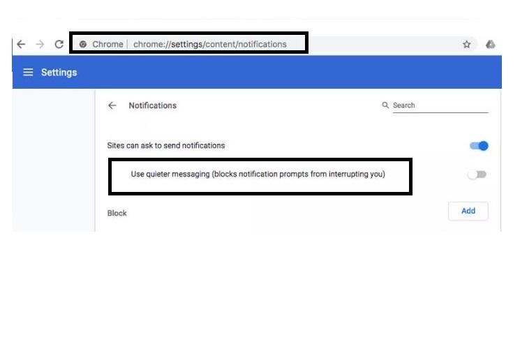 Chrome Block Notifications