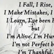 I Fall, but then I Rise...
