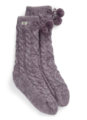 Ugg PomPom Cozy Slipper Socks