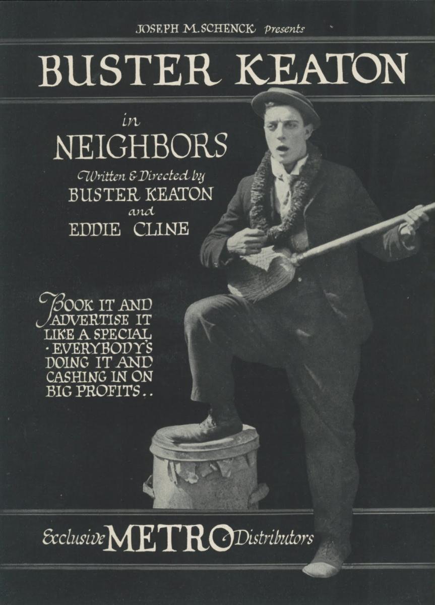 Póster película Vecinos - Buster Keaton