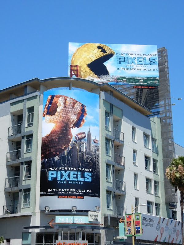 Pixels The Movie billboards