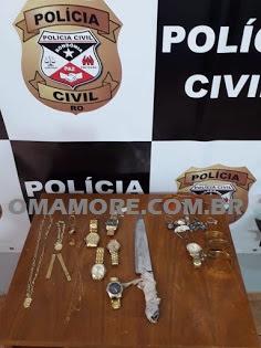 Sevic recupera parte de joais e relógios furtados de loja