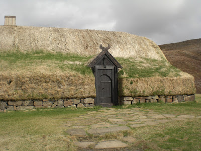 Viking long house at Stöng, Iceland.  Photo by Michael Ridpath author of the Magnus crime series