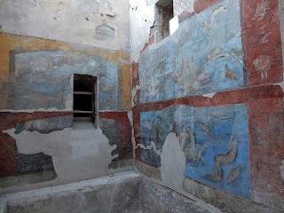 ポンペイ遺跡の壁画に描かれた海洋生物