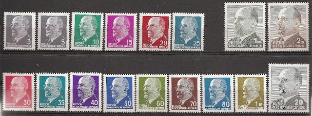 DDR 1961-1973 Chairman Walter Ulbricht Set